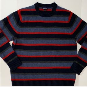 Patagonia Sweater Striped Wool Blend Size XL
